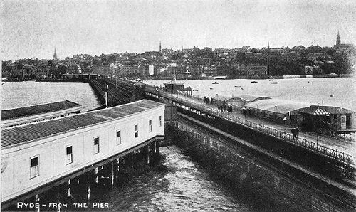 Ryde pier showing the three peirs